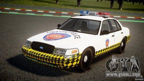 Ford Crown Victoria Karachi Traffic Police para GTA 4