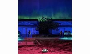 Album cover: Big Sean, I Decided 1st level- There are two men located at similar looking houses each with a different model car. 2nd level- The two men happen to be the same person. The combination of red, green, and blue create an otherworldly presence. 3rd level- The person on the left is Big Sean as he was before he decided to change and follow the road to becoming the man shown on the right.