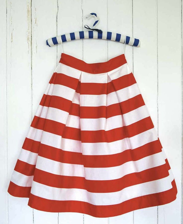 How to make a box pleat skirt (no pattern)