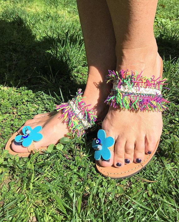 Greek Sandals Made in Greece Bohemian Sandals Leather