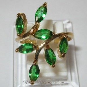 Fashion Emerald Gold Filled Ring 6US