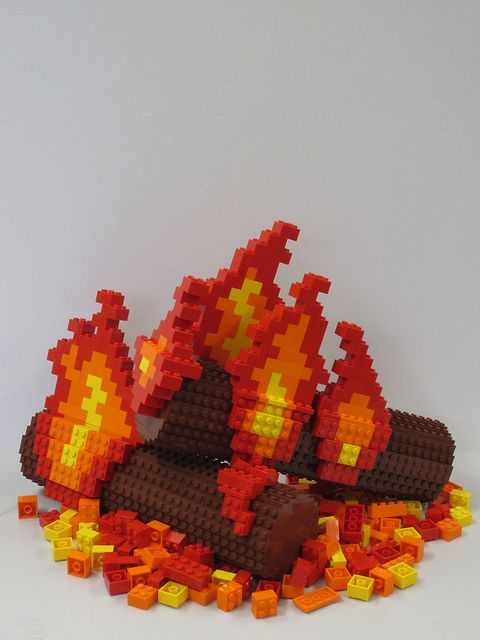 LEGO camp fire - Summer is over time to warm up! by TheBrickMan, via Flickr