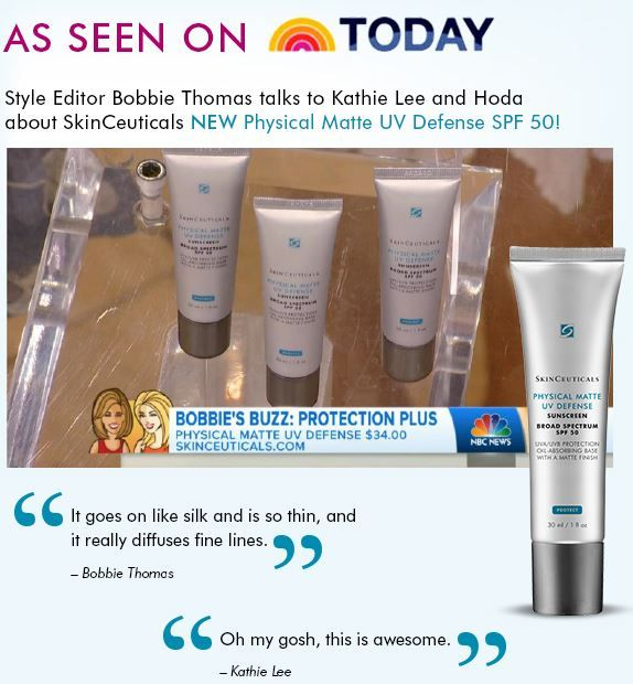 Wondering what Bobbie Thomas is buzzing about on the Today Show? Our Physical Matte UV Defense SPF 50! Learn more: http://bit.ly/1DFlum6