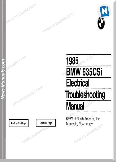 bmw 635csi electrical troubleshooting manual 1985 | wiring diagram |  electrical troubleshooting, bmw và manual