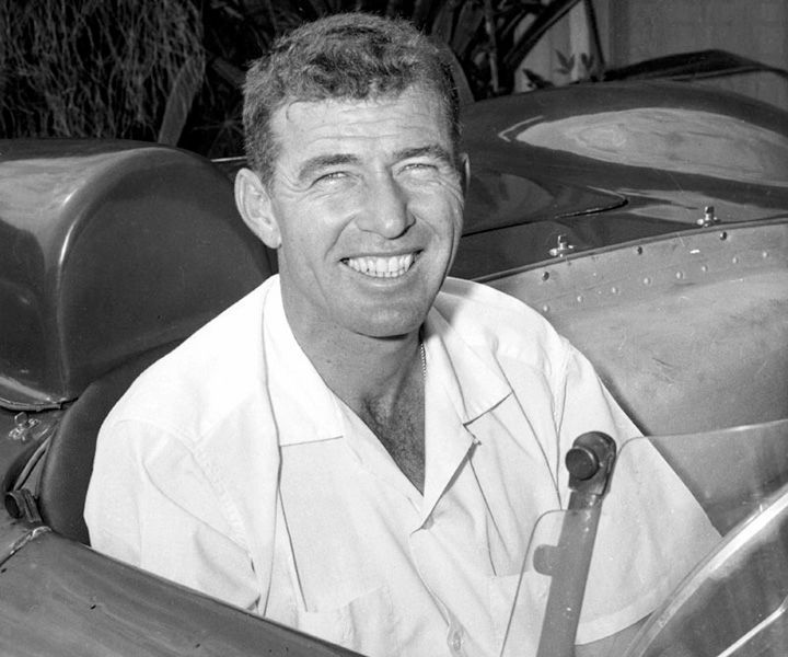 Carroll Shelby, the one and only, near the end of his sports car racing years in the 1950s, before his Cobras and Mustangs would take him into even greater dimensions of fame and fortune.