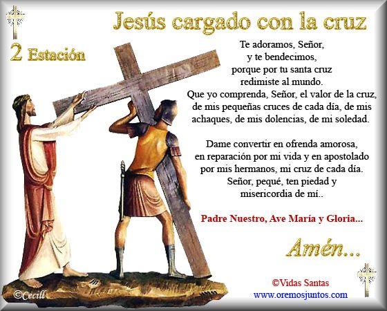 Imágenes de Cecill: Estaciones del Via Crucis † 2- Jesús cargando con la Cruz