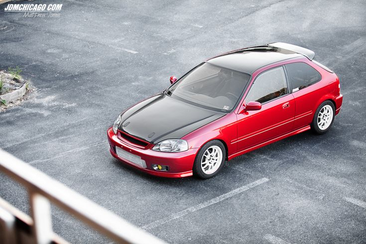 Clean Honda Civic EK with a boosted K20 via Matthew Jones on jdmchicago.com