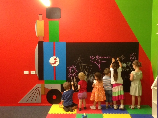 We have been sprucing-up our craft area and it's looking very cheerful. Check out this gorgeous pic of the first play session with the new Entropy train blackboard today. The only time when writing on the walls is OK... #craft #toys #entropy #train