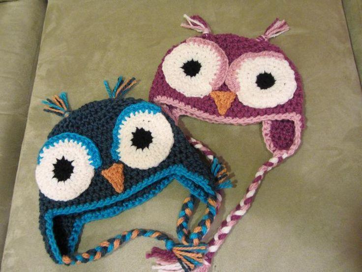 Crochet Chunky Owl Hat Pattern : Chunky Hootie - FREE PATTERN bebes Pinterest Hats ...
