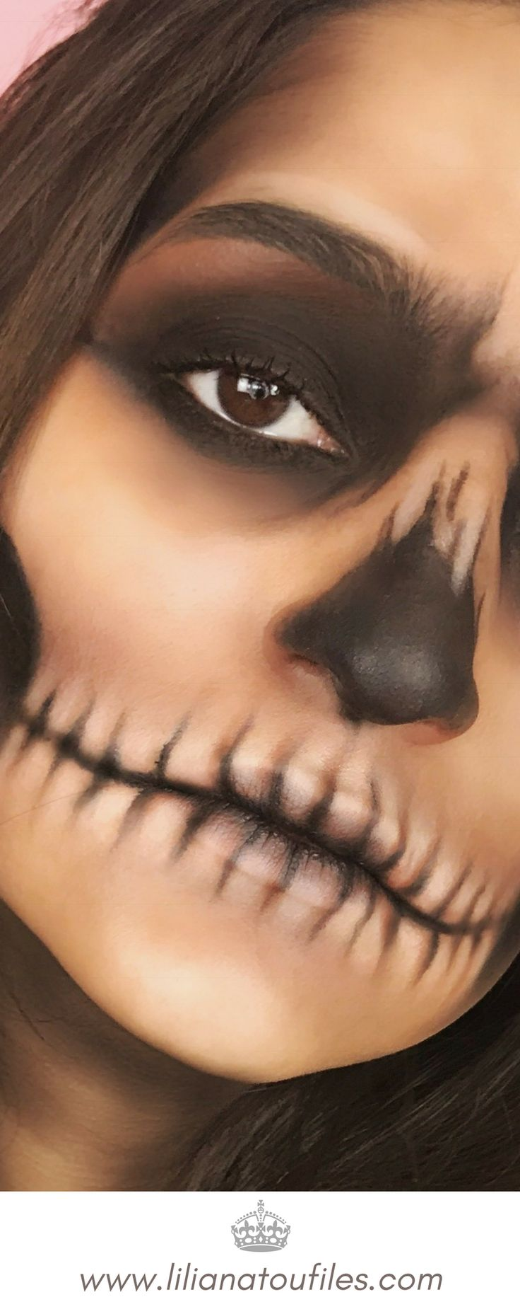 Halloween is almost upon on! Kick start your Halloween party with this How To: Easy Halloween Skull Makeup Tutorial you can recreate using your everyday makeup products. Super Easy, Super inexpensive! You only need eyeshadow and eyeliner!#youtuber #youtubechannel #youtubevideo #youtube #halloween2017 #halloweenmakeup #halloweencostumes #makeupartist #makeup #makeuplook #makeuplovers #beautyblog #beautyblogger #beautytips #beauty #tutoriales #tutorial #howto #scary #lookoftheday