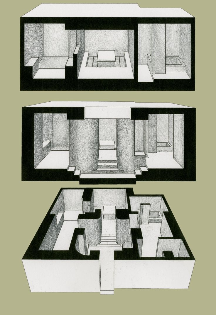 Owen Nichols Room Sections And Plan Perspective Drawing ArchitectureGraphiteOlPastelsPerspectivePresentationCharcoalLayoutSketches