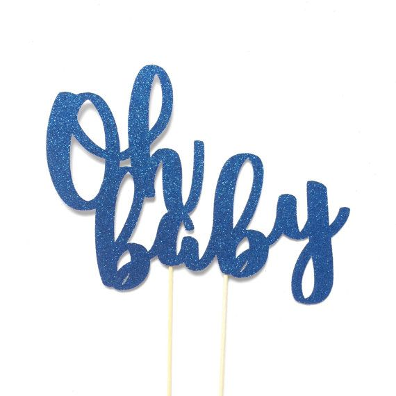 *** Please make sure to leave your event date in the notes to seller section upon checkout. *** ★•★•★•★•★•★•★•★•★•★•★•★ Oh Baby cake topper is a great way to decorate a baby shower or birth announcement party! ITEM DETAILS ☆ This topper is made of glitter cardstock (one-sided