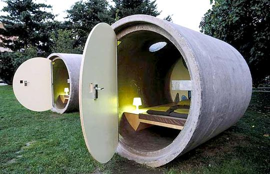 storm shelter: Idea, Outdoor Rooms, Wabi Sabi, Parks Hotels, Wabisabi, Guest Houses, Pipes, Guest Rooms, Guestrooms