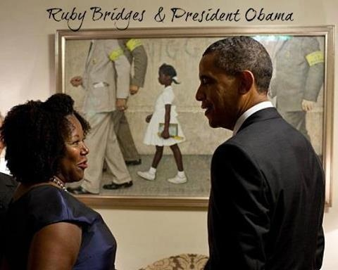 ".Ruby Nell Bridges Hall (born September 8, 1954) is known as the first black child to attend an all-white elementary school in the South. She was born in Tylertown, Mississippi but raised in New Orleans, Louisiana. Bridges Hall's parents volunteered her to participate in the integration of the New Orleans School system and on November 14,1960, at the age of six, she entered William Frantz Elementary School. This was commemorated in the Norman Rockwell painting ""The Problem We All Live With."