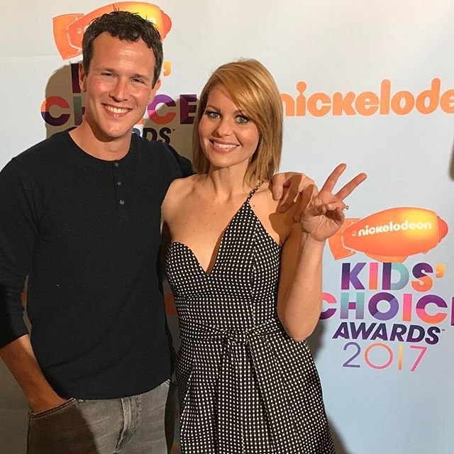 Scott Weinger & Candace Cameron Bure At The Kids Choice Awards