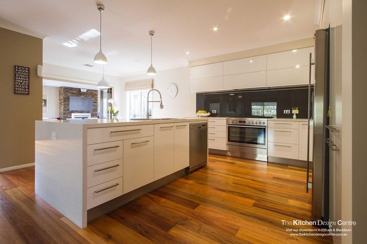 White on white kitchen, modern in style with incredibly practical storage solutions.  www.thekitchendesigncentre.com.au @thekitchen_designcentre