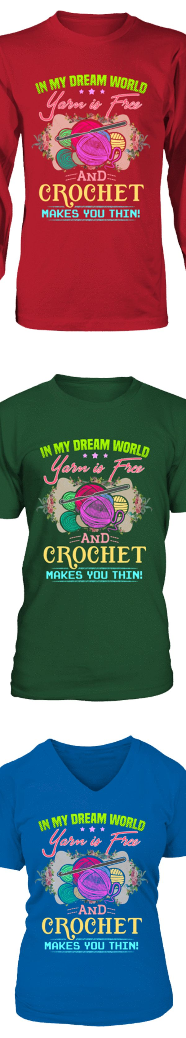 Design your own t-shirt hanes - Show Your Love Of Crochet With This Shirt Printed In The Usa Available In Hanes Cotton T Shirt V Neck