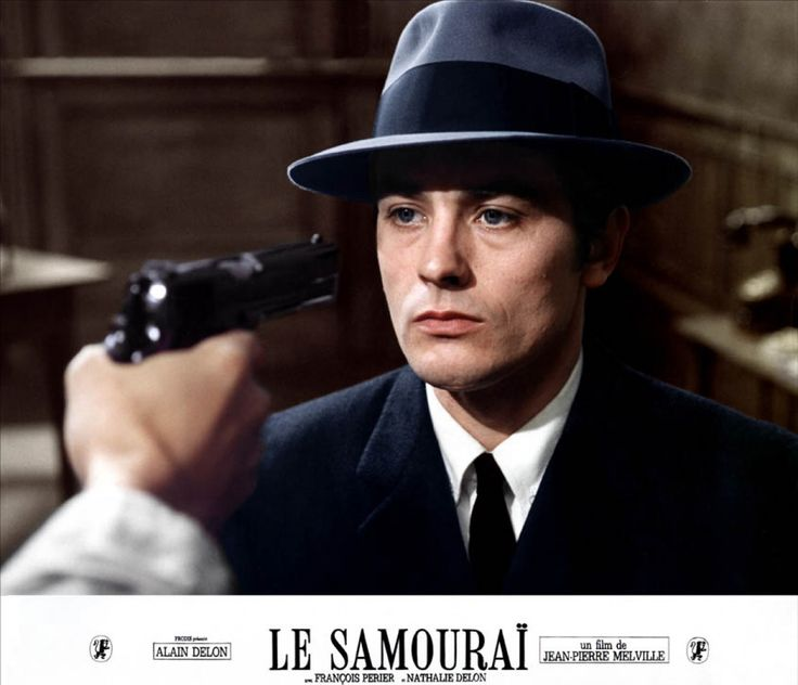 Alain Delon in Le Samourai. One of my favorite crime movies by Jean-Pierre Melville.