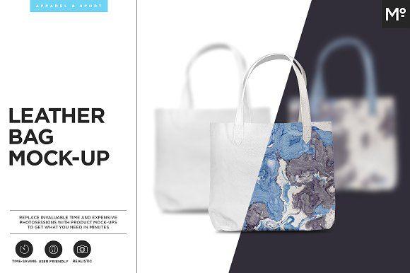 Leather Bag Mock-up by Mocca2Go/mesmeriseme on @creativemarket