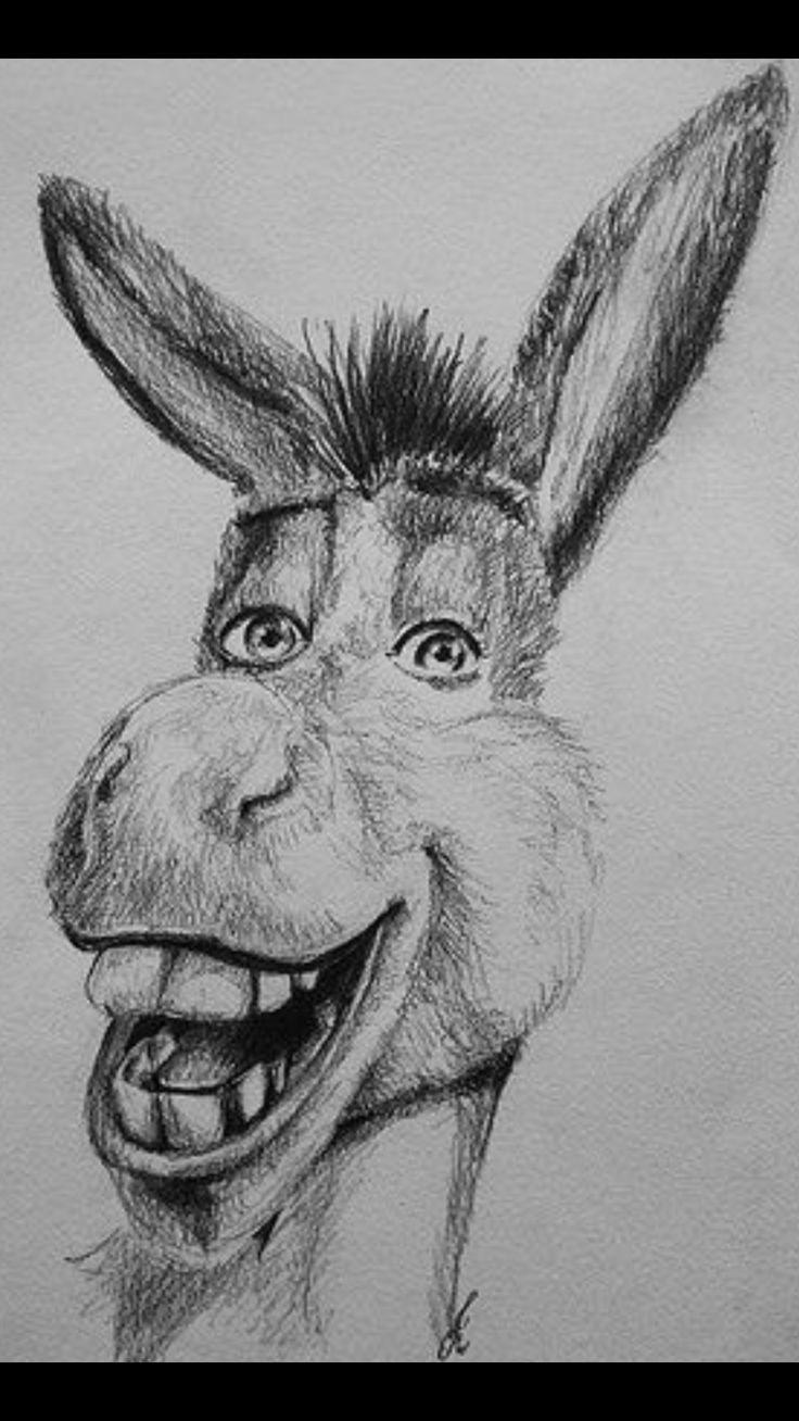 Прикольные картинки животных в карандаше