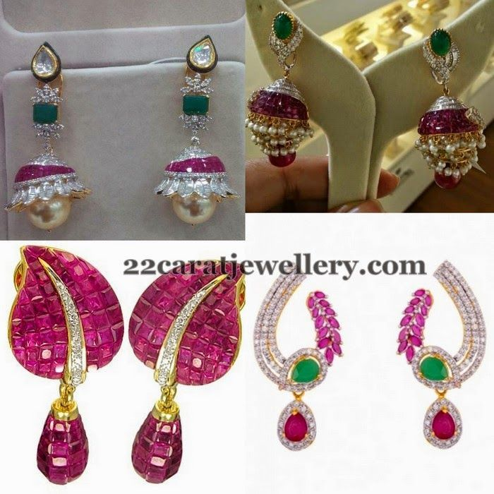 Pin By Aiswarya On Projects To Try In 2018 Pinterest Earrings Ruby And Jewelry