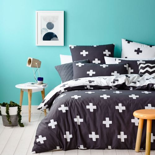 Bold and beautiful, the Dansk quilt cover set from Home Republic is Scandinavian style for a stylish bedroom. Bold cross check design in this seasons fashionable colours and printed on soft cotton. Completely reversible with matching pillowcases and coordinating european pillowcases available.