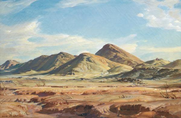Foothills of the Flinders - Hans Heysen