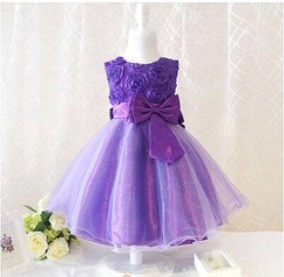 Purple Fancy Toddler dress formal/bridal by ThanksSweetie on Etsy