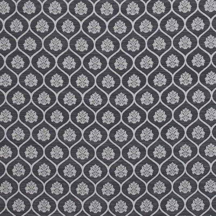 Warwick Fabrics : AYLESBURY, Colour ONYX