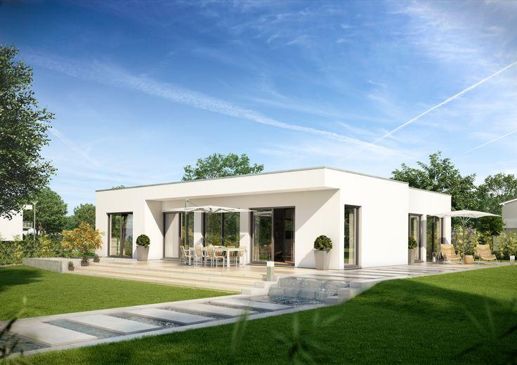 Der neue flachdach bungalow purea von kern haus die pure for Haus modern flachdach