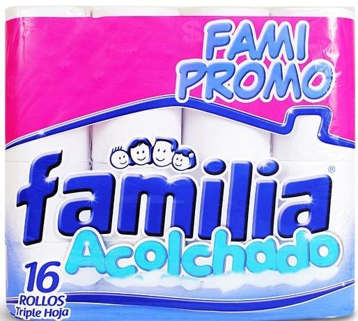 Papel higiénico Familia acolchado FAMI PROMO, triple hoja x 16Und