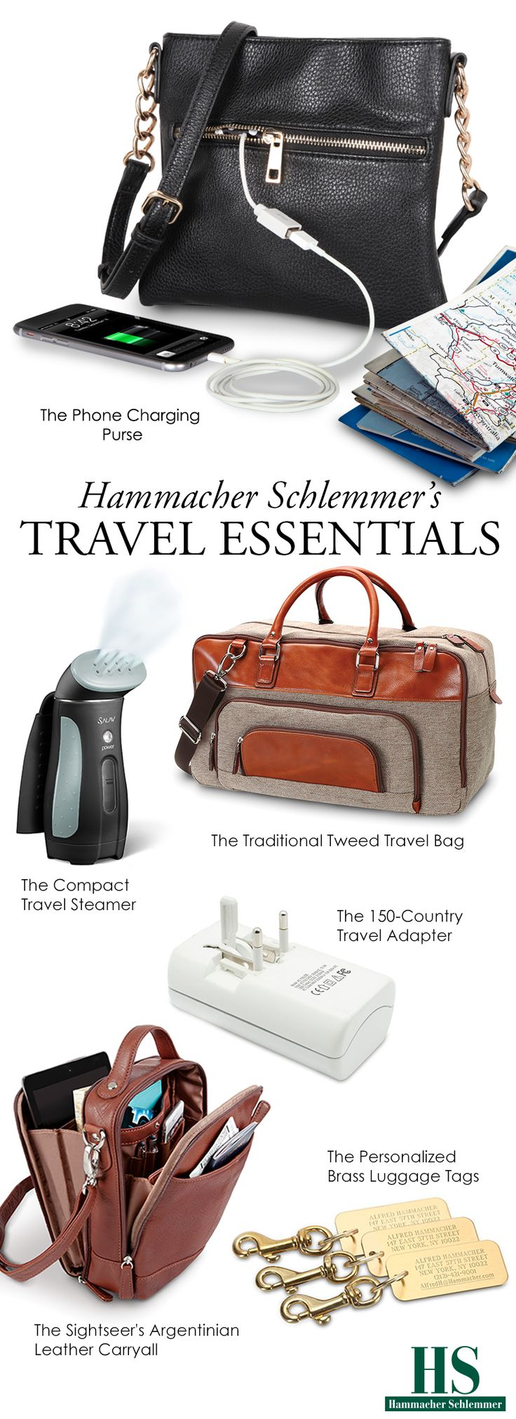 Hammacher Schlemmer Offers the Best, the Only, and the Unexpected Travel Essentials.