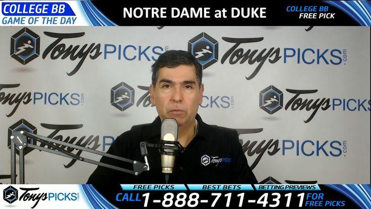 Notre Dame Fighting Irish vs. Duke Blue Devils Predictions 1/29/18