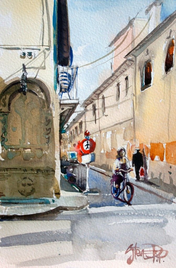 Late Afternoon Hydra Greece | Painting Florence. | Pinterest | Watercolor, Florence and Painting