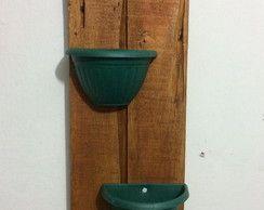 Caqueira de pallets com jarros