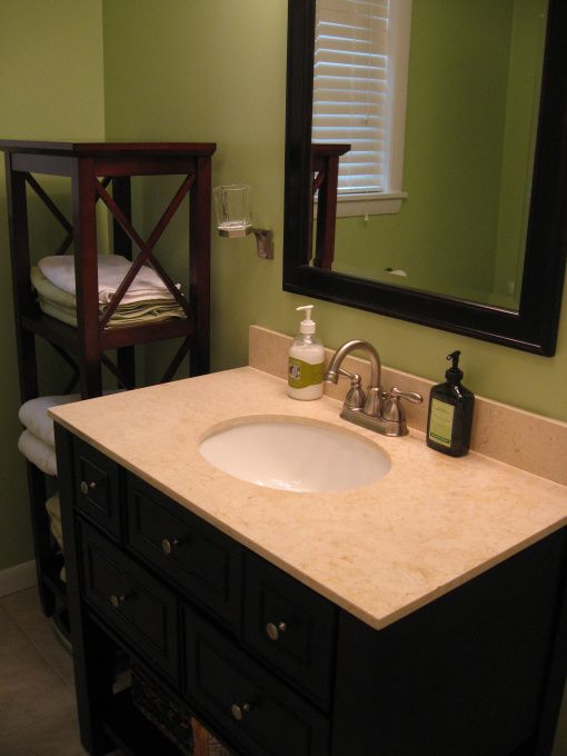 Dark brown and green? Bathroom on a budget pictures