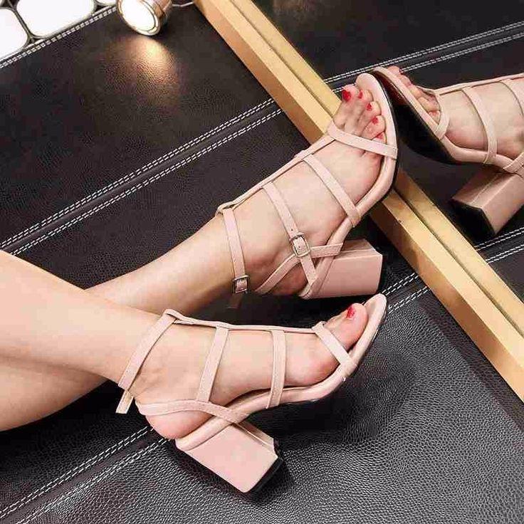 Pink Strappy high heels Fashion Sandals
