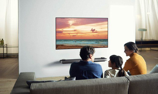 "#DailyMailUK ..... ""The ultrathin LG Signature OLED W television is just just 2.57mm thin, and mounts seamlessly to the wall using magnets to create the experience of looking through a window into another world."".... http://www.dailymail.co.uk/sciencetech/article-4088308/LG-reveals-wallpaper-TV-just-2-6mm-TV-light-hung-wall-MAGNETS-s-smart-fridge-home-robot-well.html#ixzz4UtzAVbna"