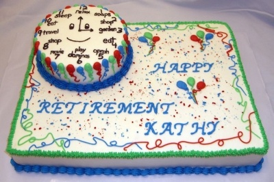 Retirement clock By talmas on CakeCentral.com