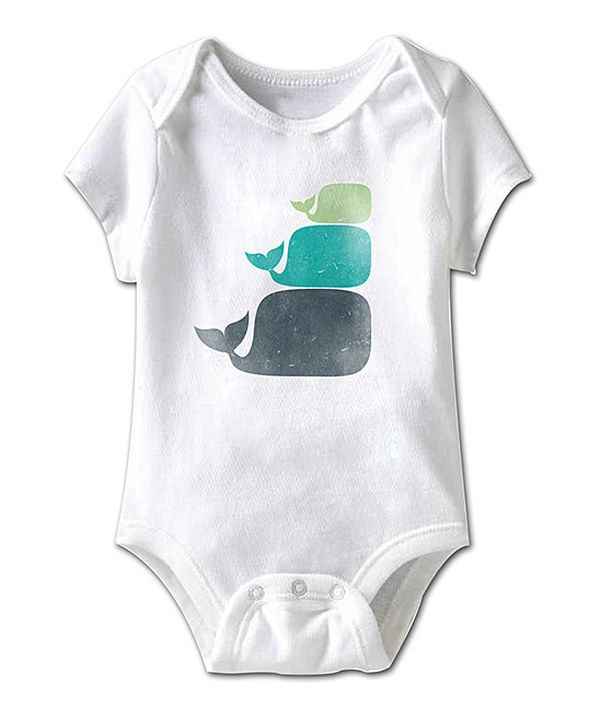 Look at this White Three Little Whales Bodysuit - Infant on #zulily today!