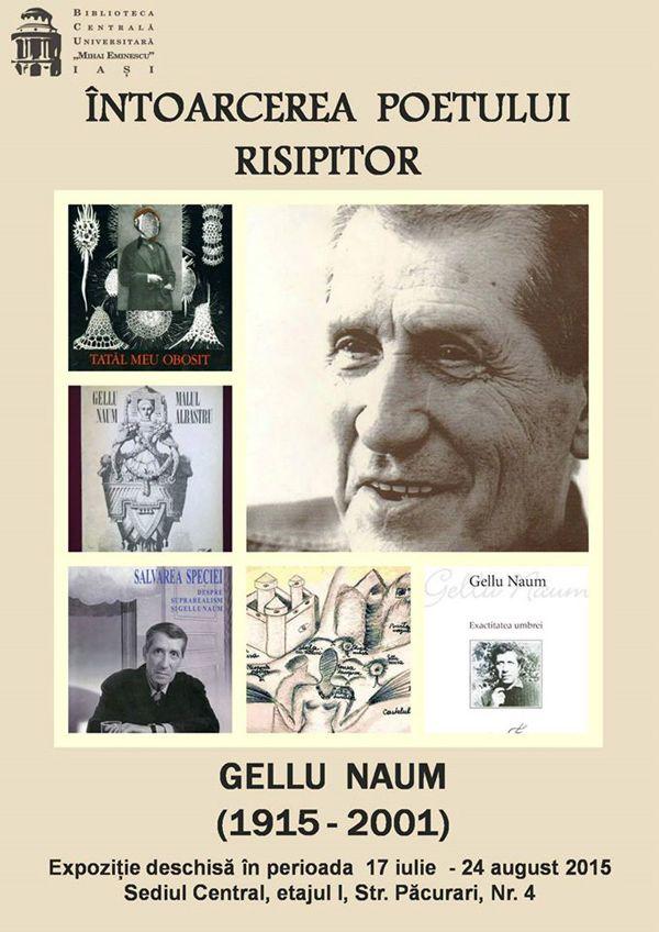 """""""Întoarcerea poetului risipitor"""" – Gellu Naum (1915-2001), la BCU Iași"""