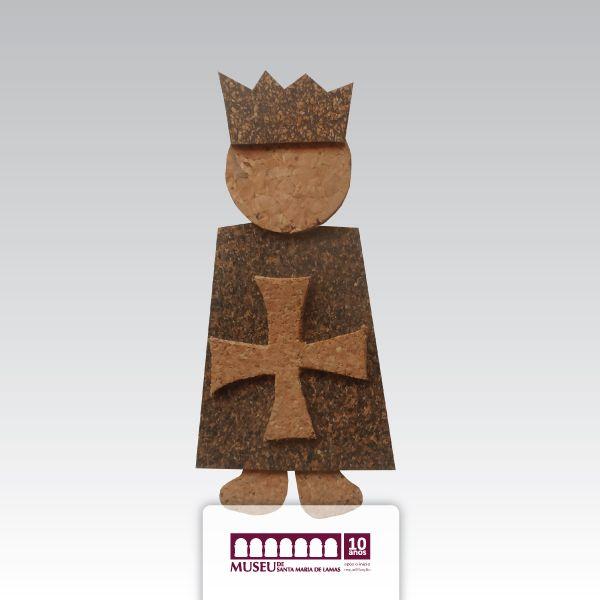 Íman em cortiça alusivo a Viagem Medieval