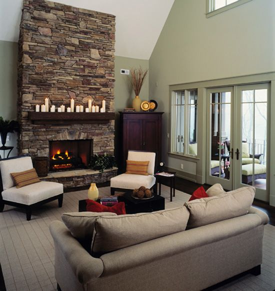 51 best images about Cool Stone Fireplaces on Pinterest High
