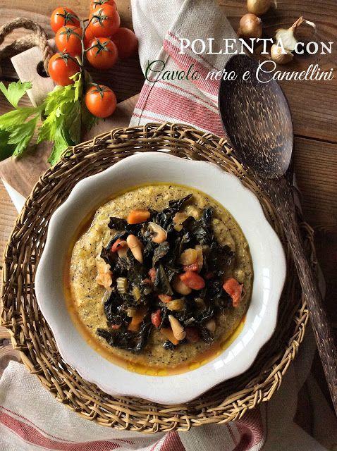 Briciole di Sapori: Polenta taragna con cavolo nero e cannellini... Un...