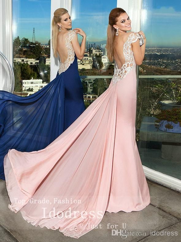 2014 Sexy Off Shoulder Trumpet Mermaid Formal Evening Dresses Beading Satin Ruffle Open Back Women Gowns Yk8R524, $155.26 | DHgate.com