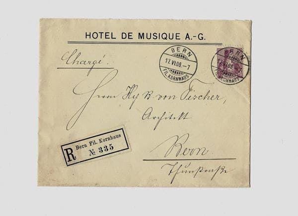 HOTEL DE MUSIQUE  A.- G. , BERN,  SWITZERLAND .