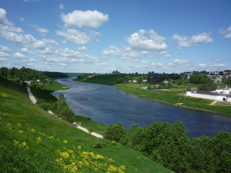Volga River, the city Staritsa, Tver region, Russia