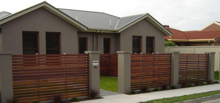 Modern Timber Fence Design