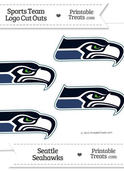 Small Seattle Seahawks Logo Cut Outs from PrintableTreats.com