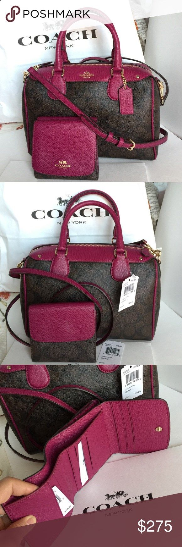 Coach Purse Wallet 100% Authentic Coach Purse and Wallet, both brand new with tag! Coach Bags Crossbody Bags